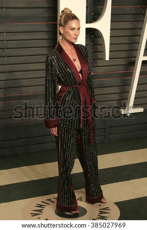 BEVERLY HILLS - FEB 28: Erin Wasson at the 2016 Vanity Fair Oscar Party on February 28, 2016 in Beverly Hills, California - stock photo