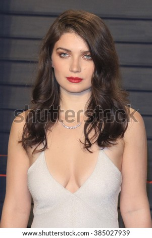 BEVERLY HILLS - FEB 28: Eve Hewson at the 2016 Vanity Fair Oscar Party on February 28, 2016 in Beverly Hills, California - stock photo