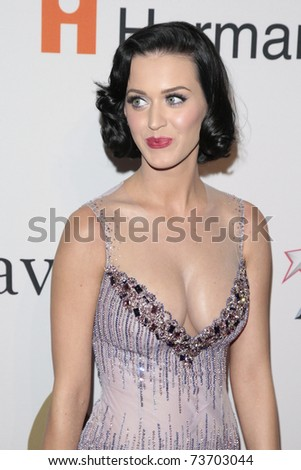 BEVERLY HILLS - FEB 7:  Katy Perry arriving at the Clive Davis and The Recording Academy present the Annual Pre-Grammy Gala in Beverly Hills, California on February 7, 2009. - stock photo