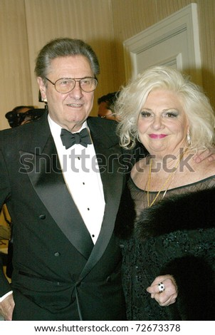 BEVERLY HILLS - FEB. 27: Renee Taylor & guest arrive at the Norby Walters 21st Annual Night of 100 Stars Oscar Viewing Party & Gala on Feb. 27, 2011 at the Beverly Hills Hotel in Beverly Hills, CA. - stock photo