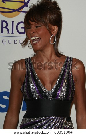 BEVERLY HILLS - FEB 9: Whitney Houston at the Clive Davis Pre-GRAMMY Party 2008 held at the Beverly Hilton Hotel in Beverly Hills, California on February 9, 2008 - stock photo