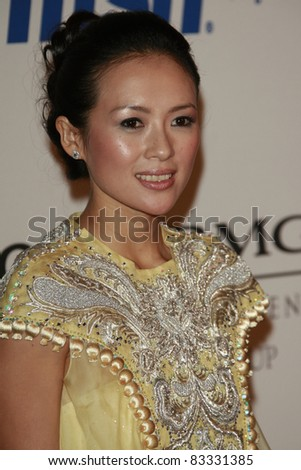 BEVERLY HILLS - FEB 9: Zhang Ziyi at the Clive Davis Pre-GRAMMY Party 2008 held at the Beverly Hilton Hotel in Beverly Hills, California on February 9, 2008 - stock photo