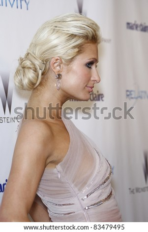 BEVERLY HILLS - JAN 16: Paris Hilton at The Weinstein Company And Relativity Media's 2011 Golden Globe Awards Party in Beverly Hills, California on January 16, 2011 - stock photo