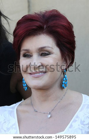 BEVERLY HILLS - JUL 29: Sharon Osbourne at the CBS , CW and Showtime 2013 Summer TCA party on July 29, 2013 in Beverly Hills, California - stock photo