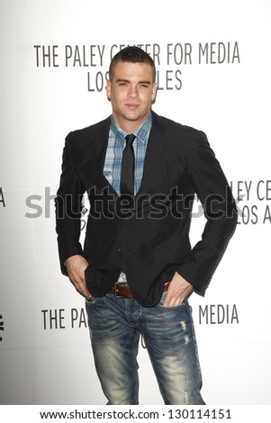 BEVERLY HILLS - MAR 16:  Mark Salling arriving at the 2011 PaleyFest honoring 'Glee' held at the Saban Theater in Beverly Hills on March 16, 2010. - stock photo