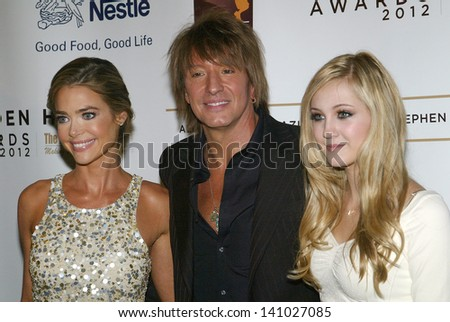 BEVERLY HILLS - MAY 7: Denise Richards, Richie Sambora, Ava Sambora arrive at The 12th Annual Golden Hearts Awards on Monday, May 7, 2012 at the Beverly Wilshire Hotel in Beverly Hills, CA.