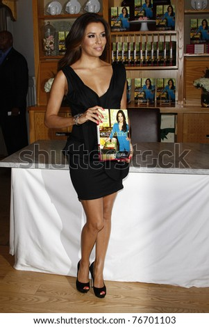 BEVERLY HILLS - MAY 6: Eva Longoria signs copies of her new cookbook 'Eva's Kitchen' at Williams Sonoma Home  in Beverly Hills, California on May 6, 2011. - stock photo