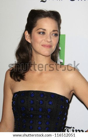 BEVERLY HILLS - OCT 22: Marion Cotillard at the 16th Annual Hollywood Film Awards Gala at The Beverly Hilton Hotel on October 22, 2012 in Beverly Hills, California