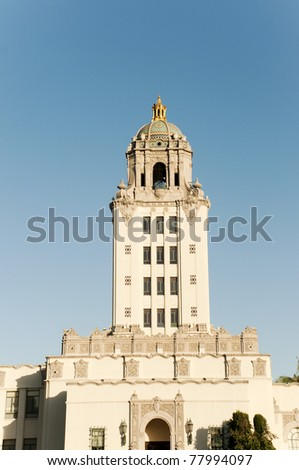 Beverly Hills Police Dept building - stock photo
