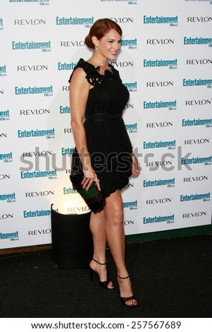BEVERLY HILLS - SEP 20: Amanda Righetti at the 6th Annual Entertainment Weekly Pre-EMMY party  on September 20, 2008 in Beverly Hills, California - stock photo
