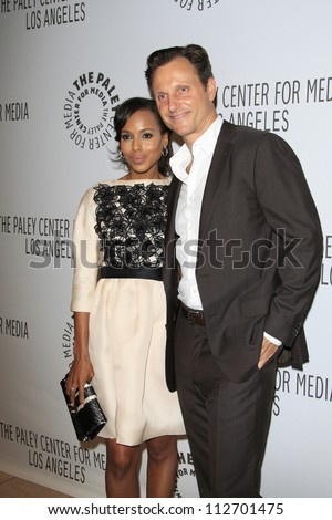 BEVERLY HILLS - SEP 11: Kerry Washington, Tony Goldwyn at the PaleyFest for the ABC Fall TV Preview at The Paley Center for Media on September 11, 2012 in Beverly Hills, California - stock photo