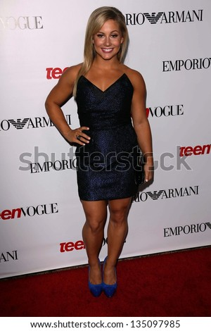 BEVERLY HILLS - SEPTEMBER 27: Shawn Johnson at Teen Vogue's 10th Anniversary Annual Young Hollywood Party in Private Location on September 27, 2012 in Beverly Hills, CA.