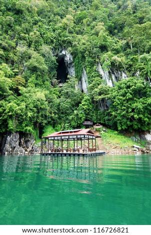 Bewah cave at Kenyir Lake, Terengganu, Malaysia - stock photo