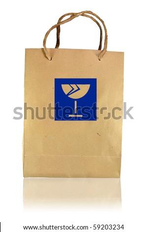 beware broke paper bag - stock photo