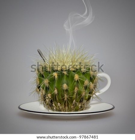 Beware....hot! A cup of tea. - stock photo