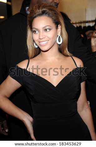 Beyonce Knowles at HOUSE of DEREON Collection Launch, Bloomingdale's Department Store, New York, NY, October 28, 2008  - stock photo