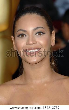 Beyonce Knowles at 81st Annual Academy Awards - ARRIVALS, Kodak Theatre, Los Angeles, CA 2/22/2009  - stock photo