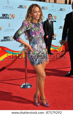 Beyonce Knowles at the 2009 BET Awards (Black Entertainment Television) at the Shrine Auditorium. June 28, 2009  Los Angeles, CA Picture: Paul Smith / Featureflash - stock photo