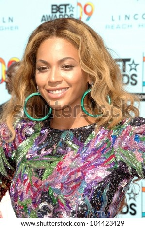 Beyonce Knowles  at the 2009 BET Awards. Shrine Auditorium, Los Angeles, CA. 06-28-09 - stock photo