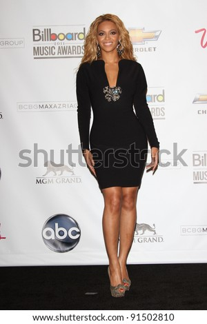 Beyonce Knowles at the 2011 Billboard Music Awards Press Room, MGM Grand Garden Arena, Las Vegas, NV. 05-22-11 - stock photo