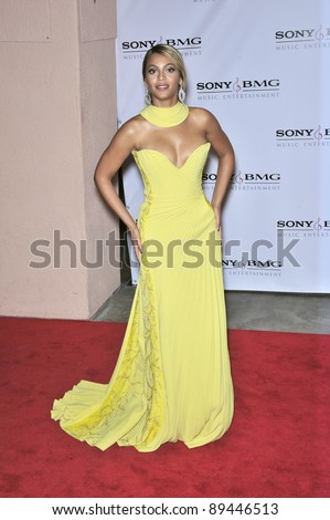 Beyonce Knowles at the Sony BMG Music Entertainment party at the Beverly Hills Hotel following the 2008 Grammy Awards. February 10, 2008  Los Angeles, CA Picture: Paul Smith / Featureflash - stock photo
