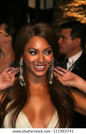 Beyonce Knowles at the 2007 Vanity Fair Oscar Party. Mortons, West Hollywood, CA. 02-25-07 - stock photo