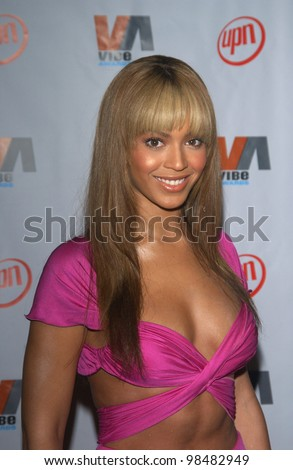 BEYONCE KNOWLES at the 2003 Vibe Awards in Santa Monica, CA. November 20, 2003  Paul Smith / Featureflash - stock photo