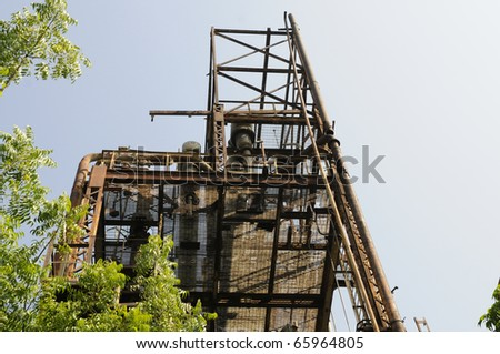BHOPAL - NOVEMBER 17: The particular part of the gas plant that emitted the deadly MIC gas at the Union Carbide Gas Plant  in Bhopal - India on November 17, 2010. - stock photo