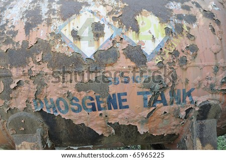 BHOPAL - NOVEMBER 17: The Phosgene gas tank that caused death of a worker in 1980 at the Union Carbide Gas Plant in Bhopal - India on November 17, 2010. - stock photo