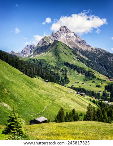 biberkopf in austria - european alps - stock photo