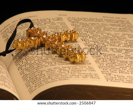 Bible and Jeweled Cross