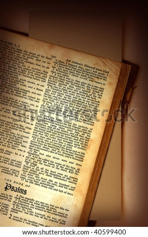 bible close up - stock photo