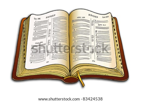 Bible illustration - stock photo