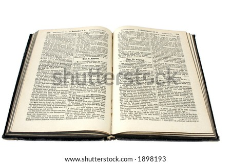 Bible in old high german from 1923 - stock photo