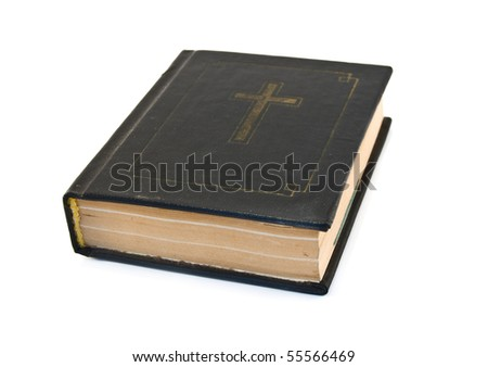 bible is isolated on a white background