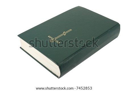 Bible isolated over white with Clipping path - stock photo
