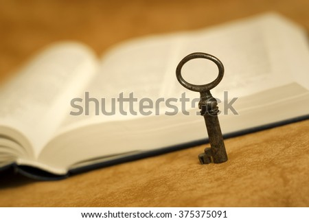Bible - key for life - religion concept - stock photo