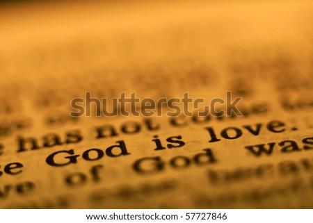 Bible passage: God is love - stock photo