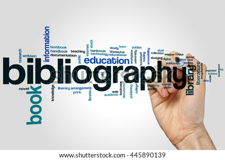 Bibliography concept word cloud background - stock photo
