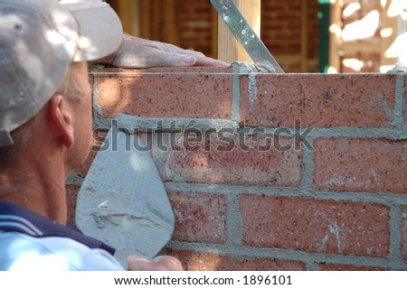 bicklayer - stock photo