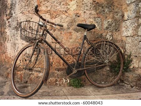 Bicycle Abandoned - stock photo