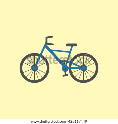 Bicycle bike illustration. Cycle icon. illustration