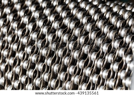 Bicycle chain background.