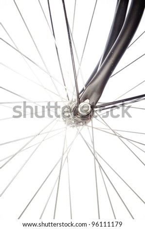 bicycle detail isolated - stock photo