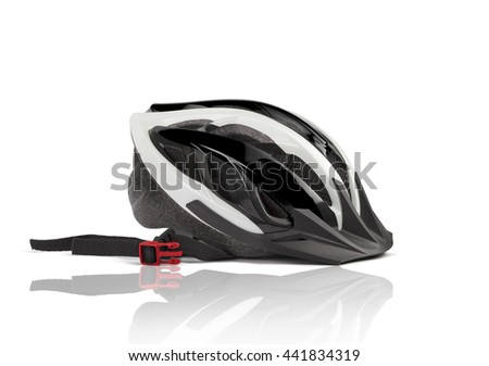 Bicycle Helmet, Head Safety. With clipping path - stock photo