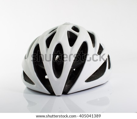 Bicycle helmet on white background.