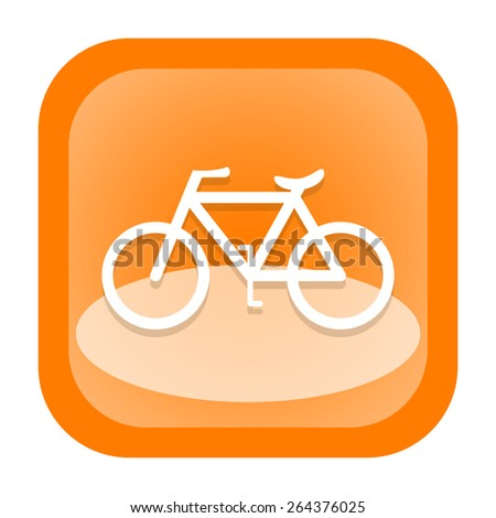 Bicycle icon - stock photo