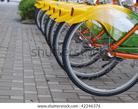 Bicycle in sidewalk
