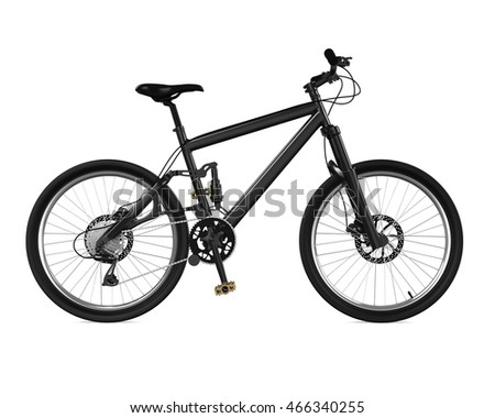 Bicycle Isolated. 3D rendering