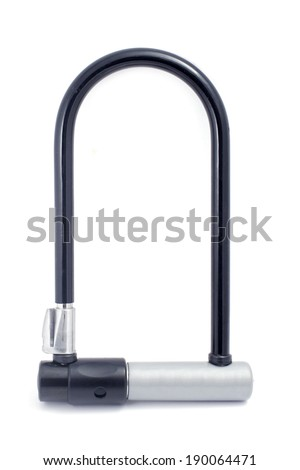 Bicycle lock on white